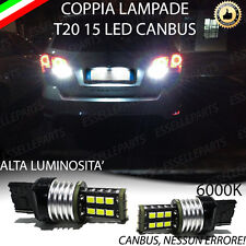 COPPIA LUCI RETROMARCIA 15 LED T20 CANBUS FIAT FREEMONT 6000K NO ERROR