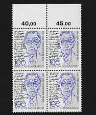 1992 germany Set Sc#1761 Mi#1629 Numeral Margin Block of 4  MNH