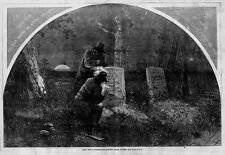 CIVIL WAR COPPERHEADS OBTAINING CEMETERY VOTES 1864 THOMAS NAST HARPER'S WEEKLY