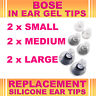 6x Replacement S M L Ear Gel Tips for Bose Triport Earphone Earbud In-Ear Canal