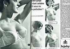 Publicité Advertising 067  1965  Lejaby (2p) soutien gorge sous vetements