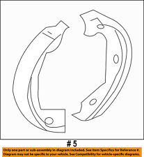 FORD OEM Parking Brake-Shoes 5L8Z2A753AA