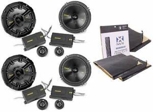 "2) KICKER 43CSS654 6.5"" Component Speaker System Kit + Rockmat Sound Deadening"