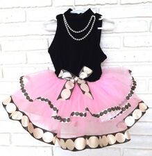 Pink Tutu Baby Ballerina Breakfast At 12 Month Black Velvet Birthday Dress