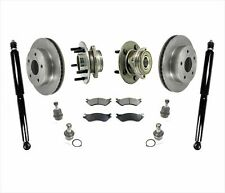 For 00-01 Ram Pick Up 1500 4x4 With REAR ABS Only Rotors Pads Ball Joints Shocks