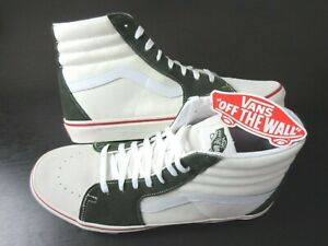Vans Sk8-Hi Retro Sport Marshmallow White Kombu Green Skate shoes Size 9.5 NEW
