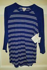 LuLaRoe Randy Baseball Style T-shirt, Small, Navy Blue w/ White Stripes! BNWT!