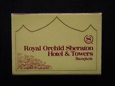 ROYAL ORCHID SHERATON HOTEL & TOWERS BANGKOK 2 CAPTAIN BUSH 2345599 MATCHBOX