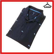 Gant Camisa Polo para hombre M Mediano FIL Coupe banderas contraste en cuello Piqué Azul Marino