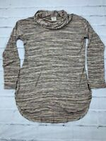 Knox Rose Women's Size 1 Cowl Neck Rayon Polyester Long Sleeves Blouse Tunic Top