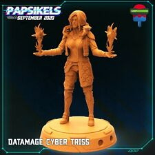 "Cyberpunk ""Cyber Triss Data Mage"" Papsikels   28mm-35mm   DnD  Tabletop Boneshop"