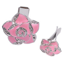 2x Pink Car Perfume Air Freshener Clip Diamond Flower Vehicl Air Vent Perfume