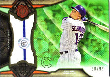 2016 TRIBUTE - KYLE SCHWARBER GAME USED JERSEY RELIC #/99