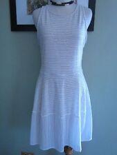 BCBG MAX AZRIA White Beige CASSANDRA SLEEVELESS A-LINE DRESS SIZE M