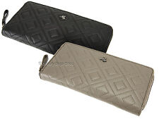 Visconti Quilted Womens Leather Purse, Ladies Zip Around Large Wallet - QT82