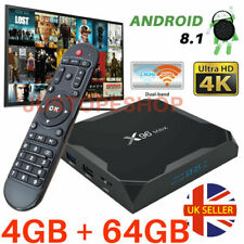 2019 X96 AMX 4GB+64GB Android 8.1 TV Box 4K HD Media Player Streamer KOD 18.1 UK