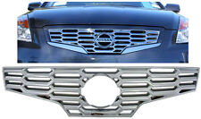 (1) FITS 2007-2009 NISSAN ALTIMA CHROME GRILLE INSERT OVERLAY IWCGI63 / GI-63
