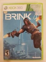 Brink (Microsoft Xbox 360, 2011) CIB COMPLETE MANUAL FREE S/H