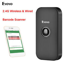 2.4Ghz Wireless & Wired & Bluetooth Barcode Scanner Reader for Phone PC Android