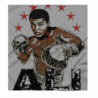Muhammad Ali USA Boxing Cassius Clay Grey T-Shirt Big Sizing Free UK Delivery
