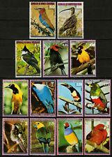 Equatorial Guinea 1976 - Colorful Birds Lot of 13 Used CTO