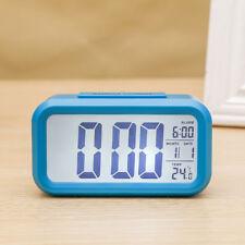 Digital Alarm Wecker Tischuhr LCD Funkwecker mit Temperaturanzeige und Kalender
