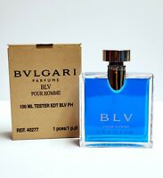 BLV Pour Homme by Bvlgari 3.3 / 3.4 oz edt spray Men  NEW Tester in Box