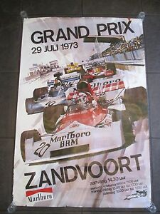Original 1973 Formula 1 Zandvoort Holland Poster Program ticket & train ticket