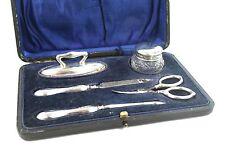 Antique Sterling Silver Manicure Vanity Set 5 Pcs Birmingham 1912