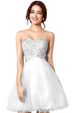 Ladies Cocktail Homecoming Dresses Short Strapless Prom Tulle Sequins Tube Dress