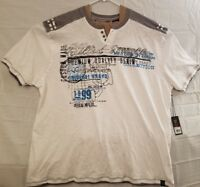 Quilted Giraffe Mens Size 4XL Casual White Gray Short Sleeve Graphic Shirt