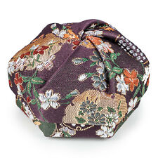 Purple Floral Traditional Japanese Jewellery Box
