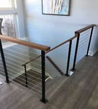 """Stainless Steel Cable Railing For Decks Deck Railing Posts 1/8"""" Cable Hardware"""