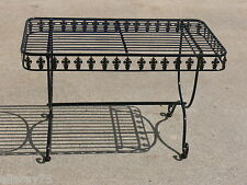 FRENCH DESIGN garden coffee table  black   wrought iron quality SUPERB