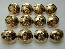 """12x British:""""ROYAL ARMY EDUCATIONAL CORPS BUTTONS"""" (Large, 26mm, Gaunt, London)"""