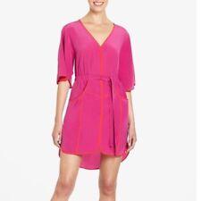 "NEW BCBG Maxazria ""Mandy"" Silk Kimono Dress XXS Fushia $288"