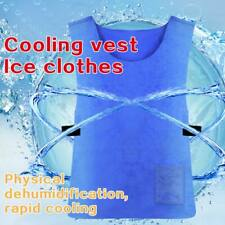 Men Women Ice Cooling Vest Outdoor Summer Sport Sunstroke Prevention Cooling