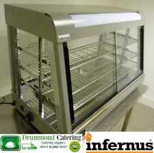 EX Display Infernus Heated Display Food /Pie /Chicken Warmer Showcase-900mm