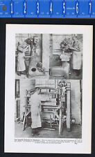 Shoe production Machinery -1937 Historical Print