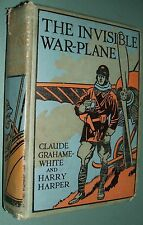 Vintage The Invisible War Plane Science Fiction Illustrated Decorative Binding