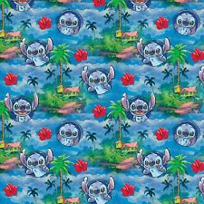 1 yard Disney Lilo & Stitch Hawaiin Nights    Fabric