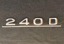 76 77 78 79 80 81 82-85 MERCEDES 240 D EMBLEM BADGE NAMEPLATE W123 RADIO DELETE