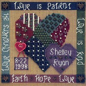 Celebration of Love Cross Stitch Kit Mill Hill 1998 Buttons & Beads