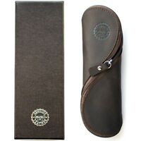 Genuine Leather Pencil and Reading Glasses Case - Authentic and Unusual Handmade