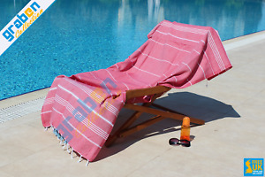 100% COTTON LUXURY PESHTEMAL, BEACH TOWEL, SPA SAUNA GYM YOGA PICNIC TOWEL