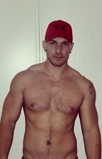 Shirtless Male Beefcake Muscular Dude Hairy Chest Abs Hot Guy PHOTO 4X6 C516