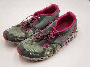 On Cloud Running Shoes Pink Grey Women's Size 9 Swiss Engineering