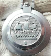 RAKETA SHIP  OPEN FACE MEN'S  MECHANICAL POCKET WATCH USSR 17JEWELS
