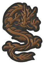 Patch écusson brodé patche Dragon brun medium Ecusson badge