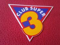 PEGATINA ADHESIVO STICKER CLUB SUPER 3 ? TELEVISIÓN DE CATALUNYA ? VER FOTO/S,